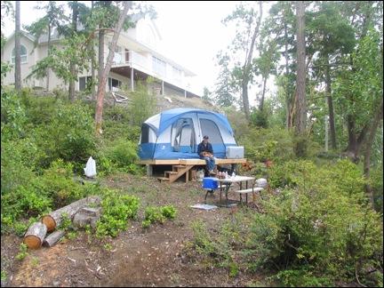 Tent Below Big House