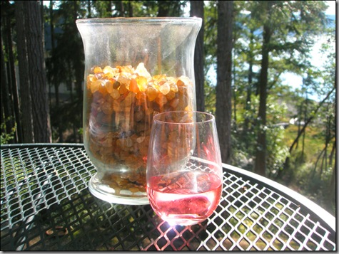 agates and wine