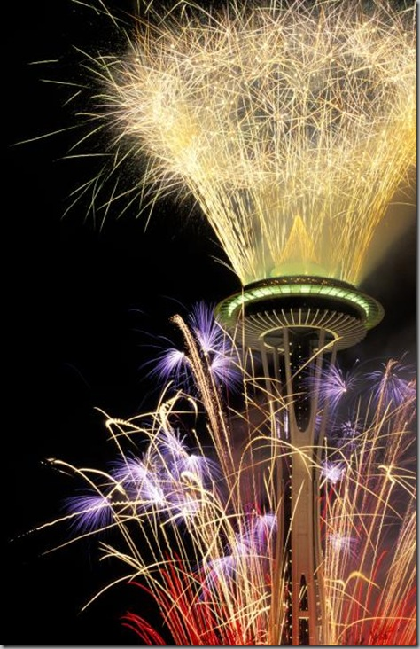 Space Needle fireworks