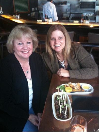 Tonya and Carol at Daniels Broiler 10-28-09