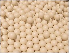 white pellets