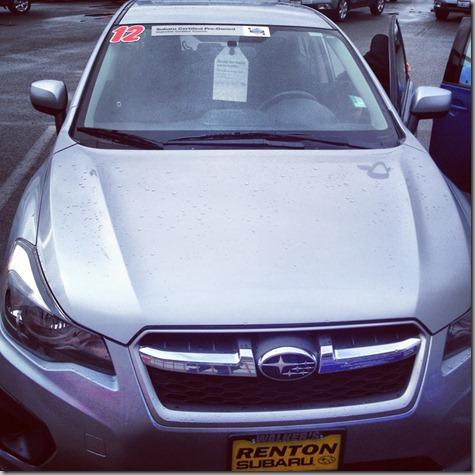 New Car at dealer - 12-26-12