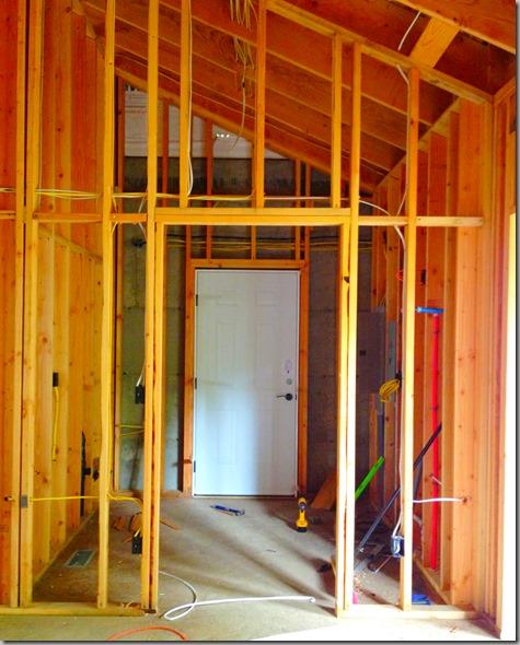 Door from mudroom to shop installed 7-21-13