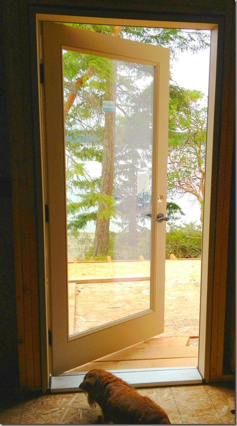 Studio Door Installed 7-21-13