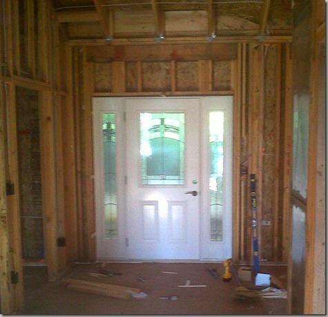 Entry Door Installed - from inside - 7-23-13