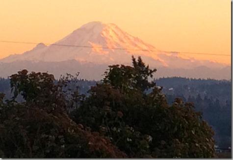 Rainier Sunset 1-25-14