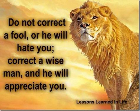 Don't Correct a Fool