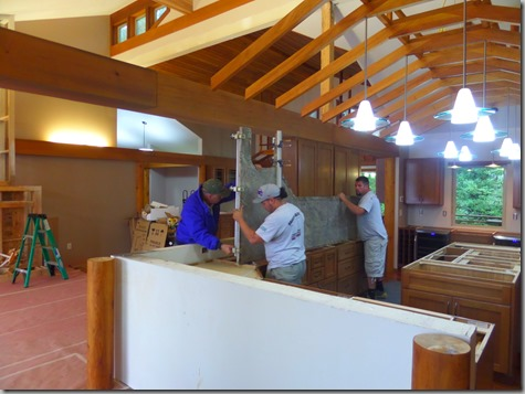 Granite - finally inside and ready to install 8-12-14