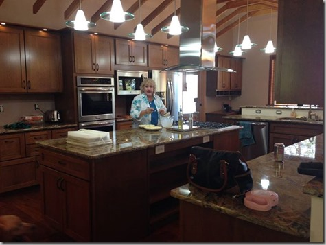 Googy pic of Tonya in Harstine Kitchen 9-13-14