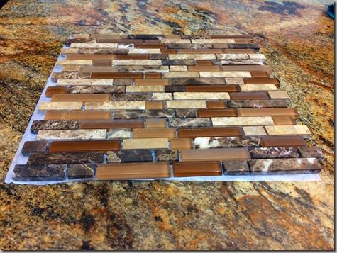 Kitchen Backsplash tile - great match 11-16-14