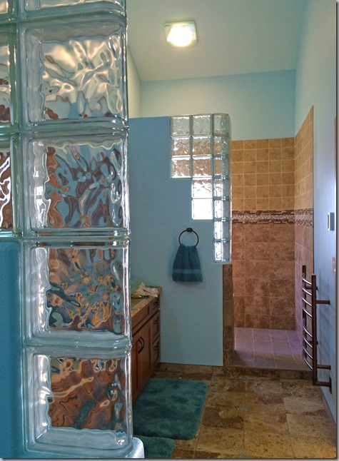 Master Bath Glass Block 6-13-15