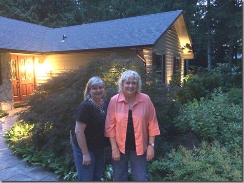 Diane and Tonya at the Audorffs 7-13-15