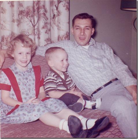Tonya David and Dad February 1962