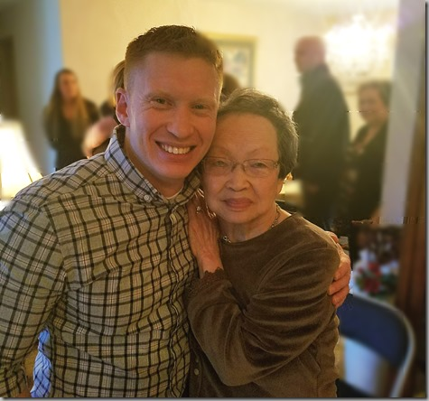 Nate and Obachan after Grandpa's Funeral 3-17-18
