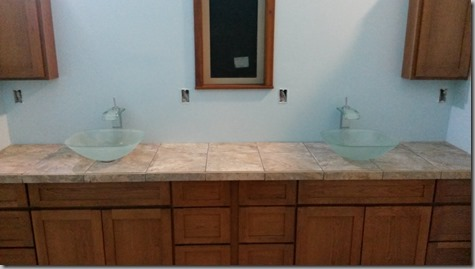 Master Bathroom Sinks and Cabinets 10-9-14