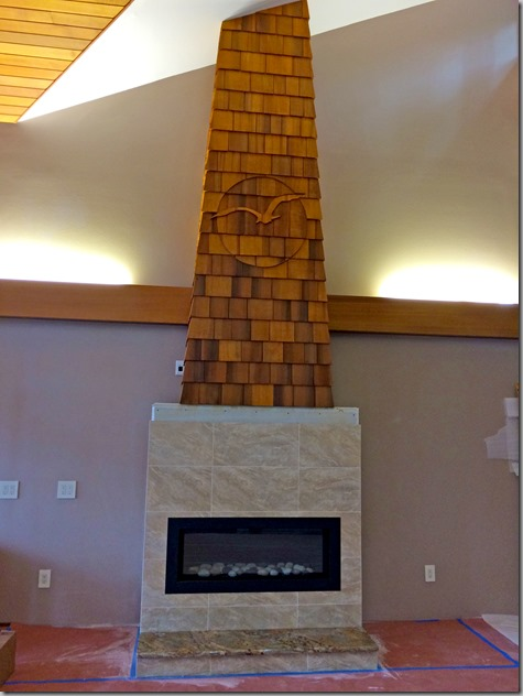 Fireplace tile completed 11-8-14
