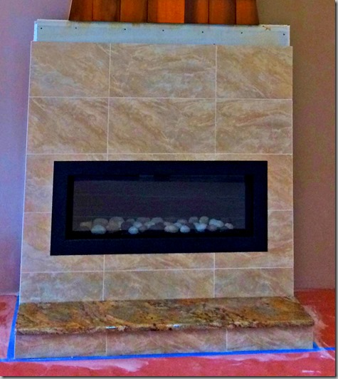Fireplace tile completed closeup 11-8-14