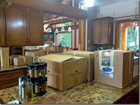 Unpacking the Kitchen 3-5-15