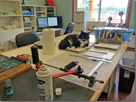 Mojo Helping in Glass Studio-1 3-29-15