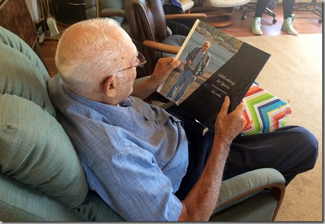 Dad's Photo Book 80th Birthday 6-20-15