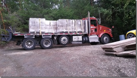 Retaining Wall Block Delivered 10-2-15