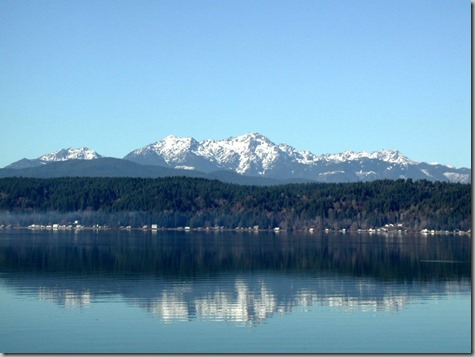 Olympic-Mountains from Hood Canal
