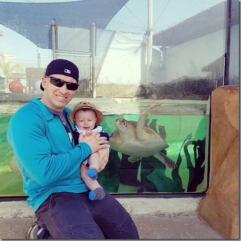 Nate and Quinn at San Diego Aquarium 2-11-18
