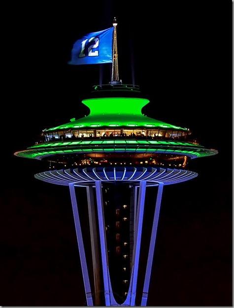 Seahawks Space Needle 1-17-15