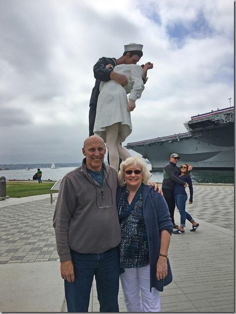 John and Tonya Kissing Statue and Midway 6-4-17
