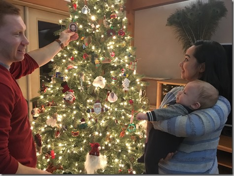 Showing Quinn Nate's Ornament 12-17-17