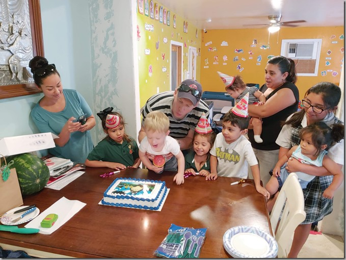 Quinn's Daycare Happy Birthday Blowing Out Candles 9-19-19