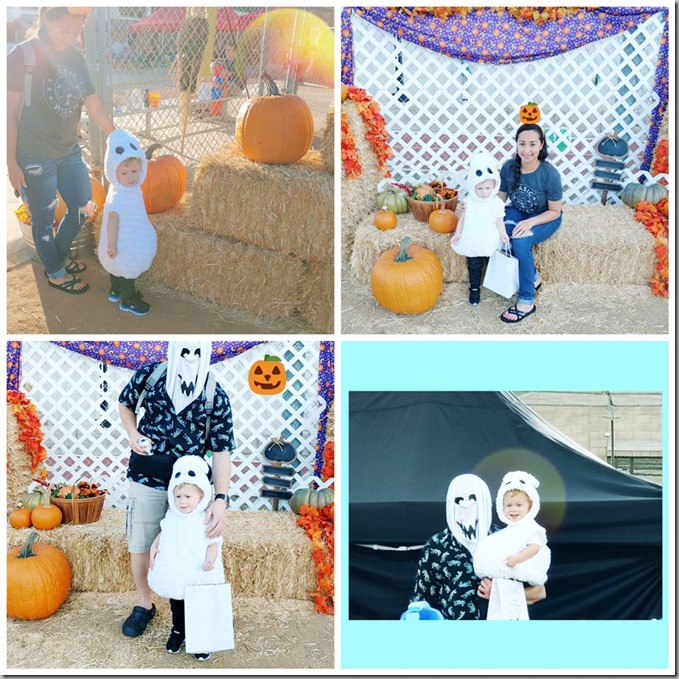 Quinn's Halloween Ghost pictures 10-26-19