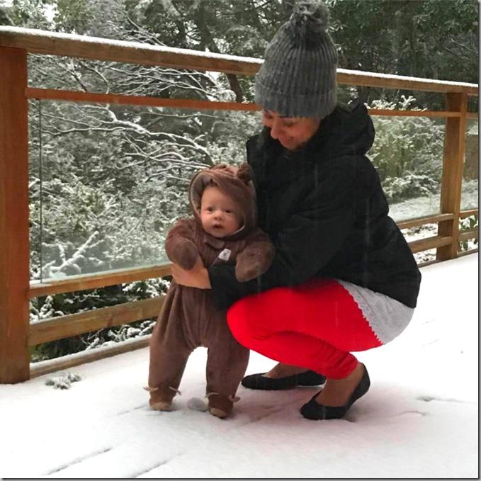 Quinn's First Snow 12-24-17