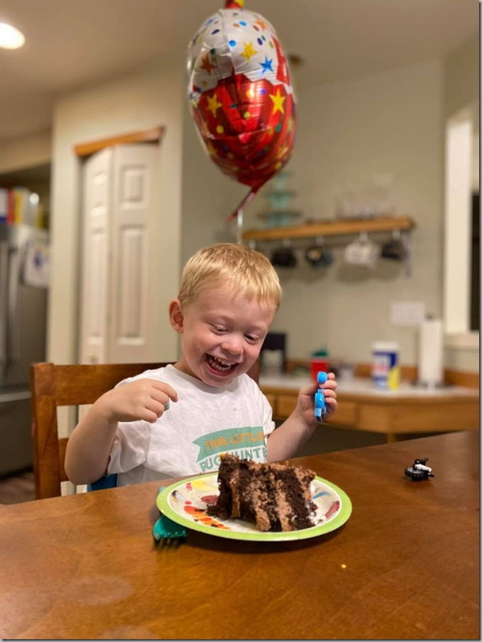 Quinn's 3rd Birthday - CAKE 9-18-20