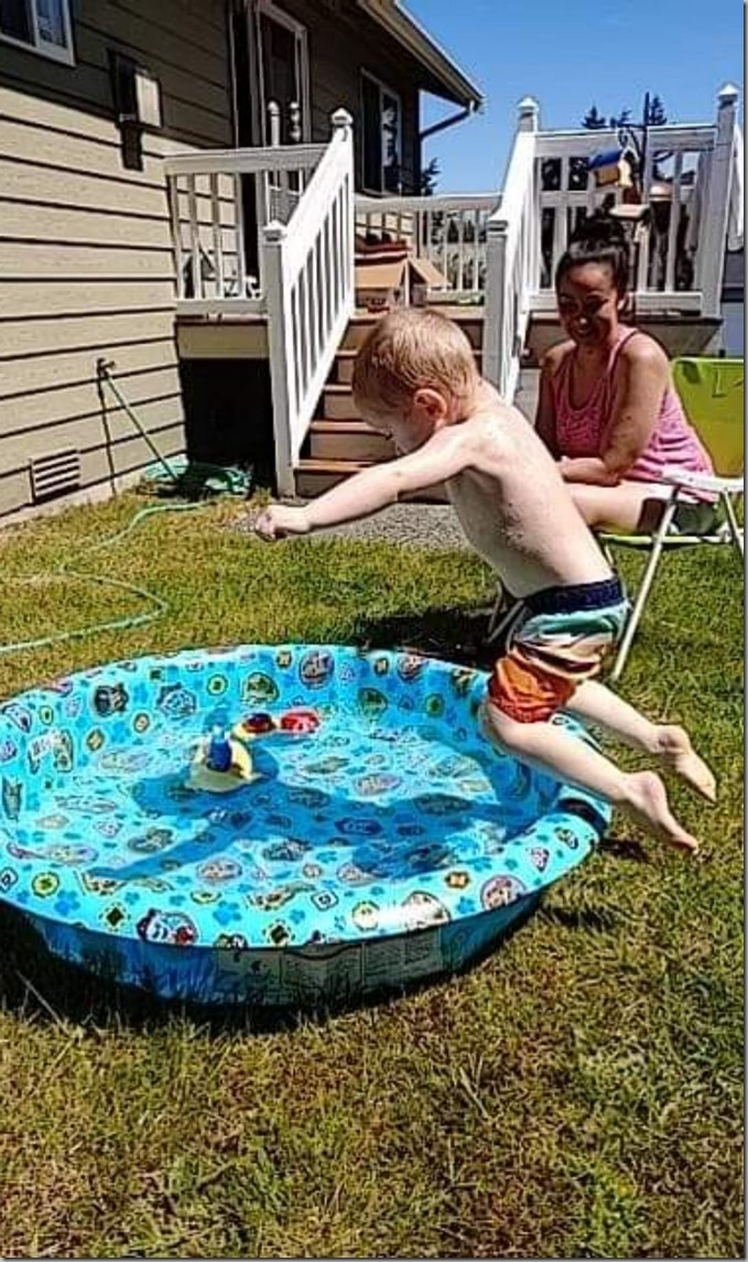 Quinn Diving in Pool 5-9-20