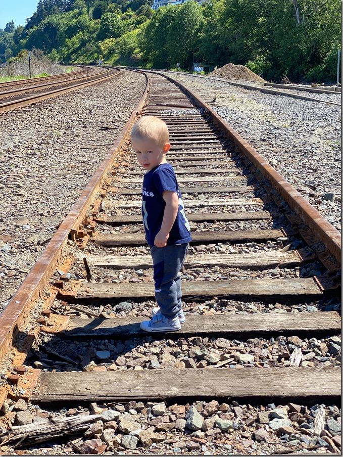 Walking Train Tracks 5-27-20