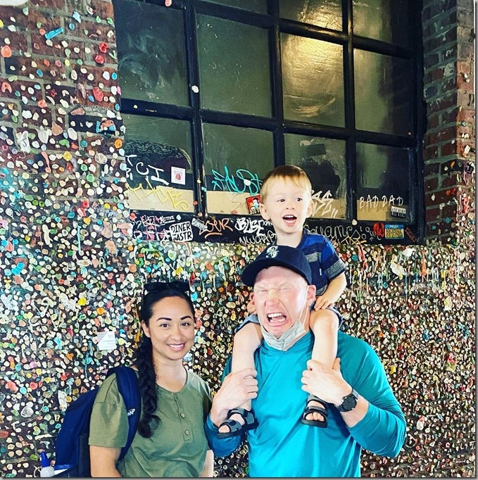 Seattle on Father's Day-Gum Wall 6-20-21